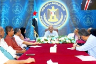 الجعدي يلتقي رؤساء النقابات المصرفية بالعاصمة عدن