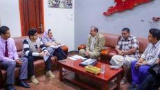 رئيس الجمعية الوطنية يلتقي مديرة منظمة نداء جنيف