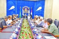 الوالي يرأس اجتماعاً هاماً لرؤساء اللجان المجتمعية بالعاصمة عدن
