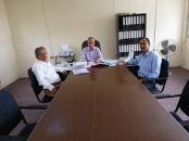 ممثلون عن الدائرة الاقتصادية يتفقدون مصنع الأشباك والمعدات الزراعية بالعاصمة عدن