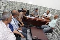 قيادة انتقالي حضرموت تبحث آفاق التعاون مع الهلال الأحمر الإماراتي