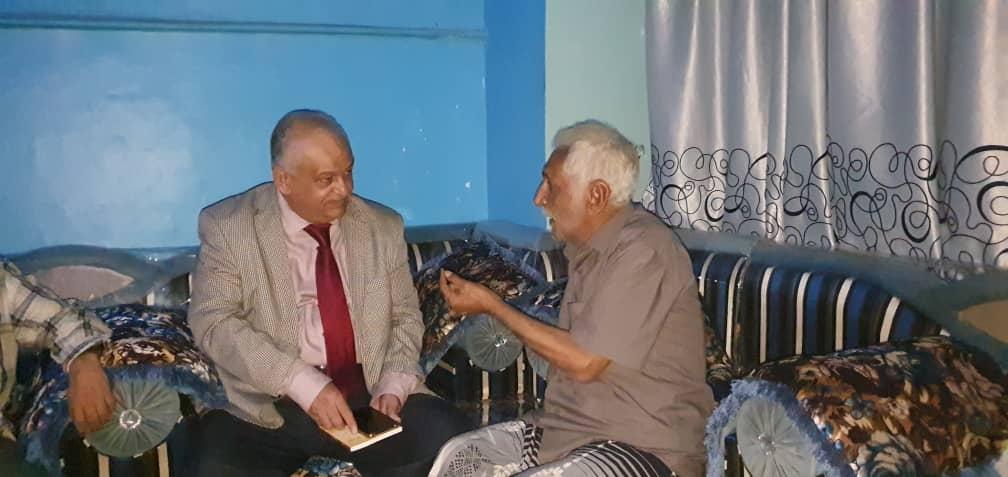 الوالي يطمئن على صحة الشاعر الجنوبي عبدالله عبدالكريم والجريح سراج حمادي
