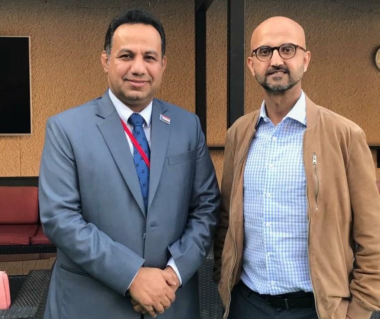 ممثل الإدارة العامة للشؤون الخارجية الشبحي يلتقي المستشار السياسي للسفير البريطاني لدى اليمن
