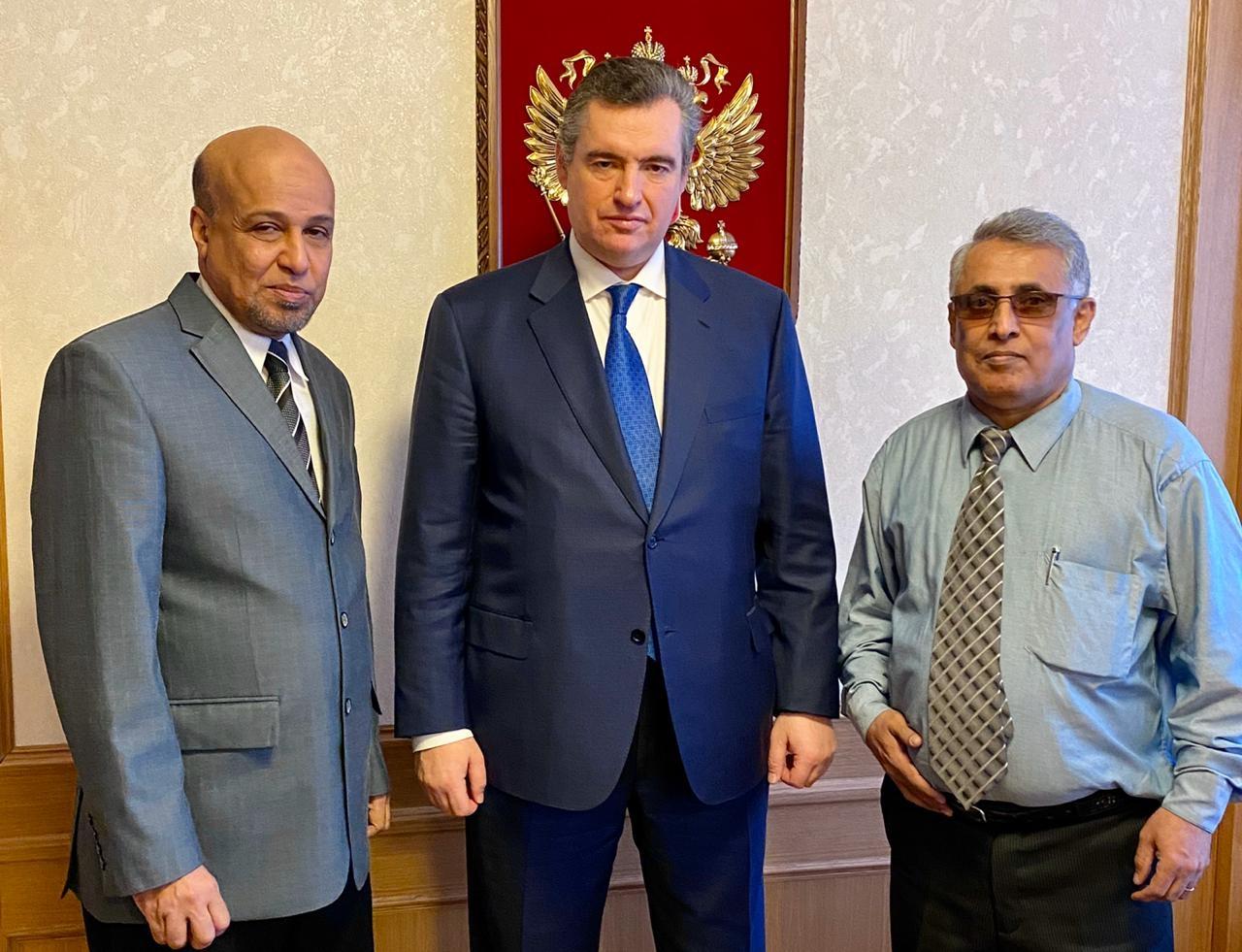 رئيس لجنة العلاقات الخارجية بمجلس النواب الروسي يتسلم رسالة خاصة من الرئيس الزُبيدي
