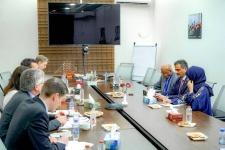 الأمين العام يلتقي وزيرة الخارجية السويدية ويناقش معها مسار عملية السلام