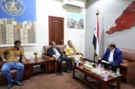 اللواء بن بريك يلتقي أعضاء هيئة الوفاق الجنوبي- الجنوبي برئاسة المناضل المرقشي
