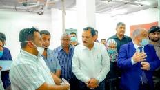 قيادة الانتقالي ووزارة الصحة ومنظمات دولية يقفون على تجهيزات مستشفى الأمل بالبريقة