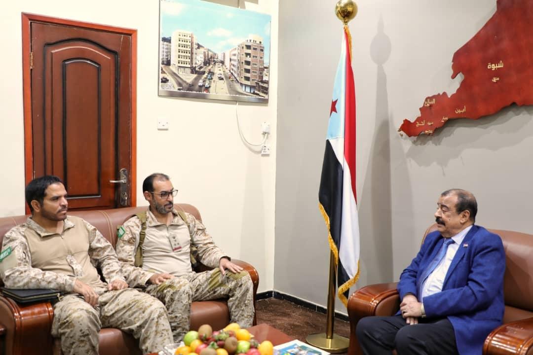 رئيس الجمعية الوطنية يلتقي قائد قوات التحالف العربي بالعاصمة عدن