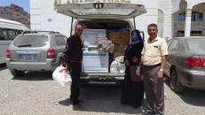 لجنة الإغاثة والأعمال الإنسانية تدعم مستشفى الأمل بمستلزمات صحية ووقائية