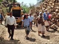 قيادة انتقالي الضالع تتفقد أضرار السيول في منطقة ذي حرّان