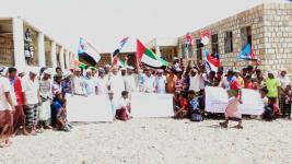 أبناء مركز حالة شرق سقطرى يحتشدون لتأييد قرار إعلان الإدارة الذاتية للجنوب