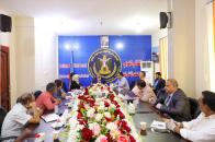 رئيس الإدارة الذاتية للجنوب يلتقي منسقي المجلس الانتقالي في جامعة عدن