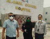 فريق من الانتقالي يتفقد سير العمل في مركز الحجر الصحي بمستشفى الأمل