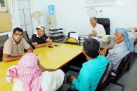 قيادة انتقالي غيل باوزير تناقش مع مدير عام المديرية جُملة من القضايا الهامة
