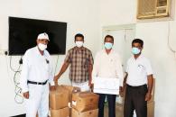انتقالي حضرموت يدعم مركز ربوة خلف بأدوية ومستلزمات حماية