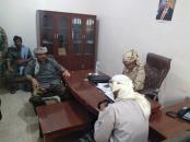 رئيس انتقالي أبين يناقش مع قائد القوات الخاصة جهود حفظ أمن واستقرار المحافظة