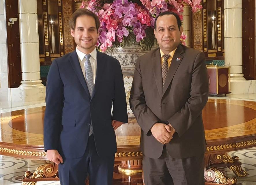 ممثل خارجية الانتقالي الشبحي يلتقي نائب سفيرة جمهورية ألمانيا الاتحادية لدى اليمن