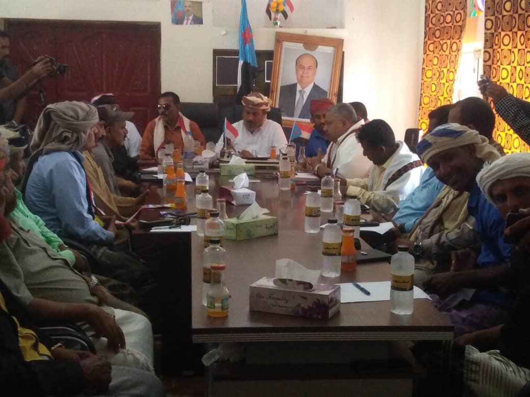 رئيس انتقالي سقطرى يلتقي لجنة التنمية التابعة لمؤسسة خليفة بن زايد للأعمال الإنسانية