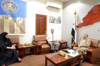 رئيس الإدارة الذاتية للجنوب يلتقي مديرة بنك اليمن والكويت في العاصمة عدن