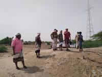 قيادة انتقالي أبين ومكتب الري يتفقدان عدد من السدود في الدلتا