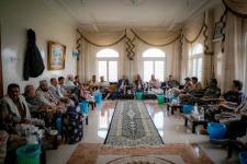بن بريك والجعدي والوفد المرافق لهما في ضيافة الشيخ بن شعيلة بيافع