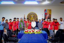 الجعدي يلتقي فريق تلال شبوة الزائر للعاصمة عدن ويؤكد على أهمية دور الشباب في المرحلة الحالية