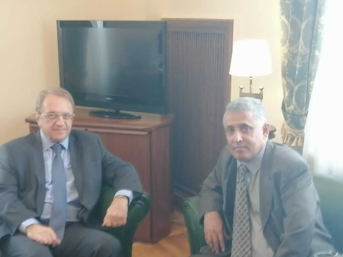 رئيس مكتب الانتقالي بموسكو ينقل لنائب وزير الخارجية الروسي رسالة من الرئيس الزُبيدي تتعلق بآلية تنفيذ اتفاق الرياض