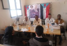 رئيس انتقالي الضالع يلتقي قيادة انتقالي الأزارق والسلطة المحلية بالمديرية
