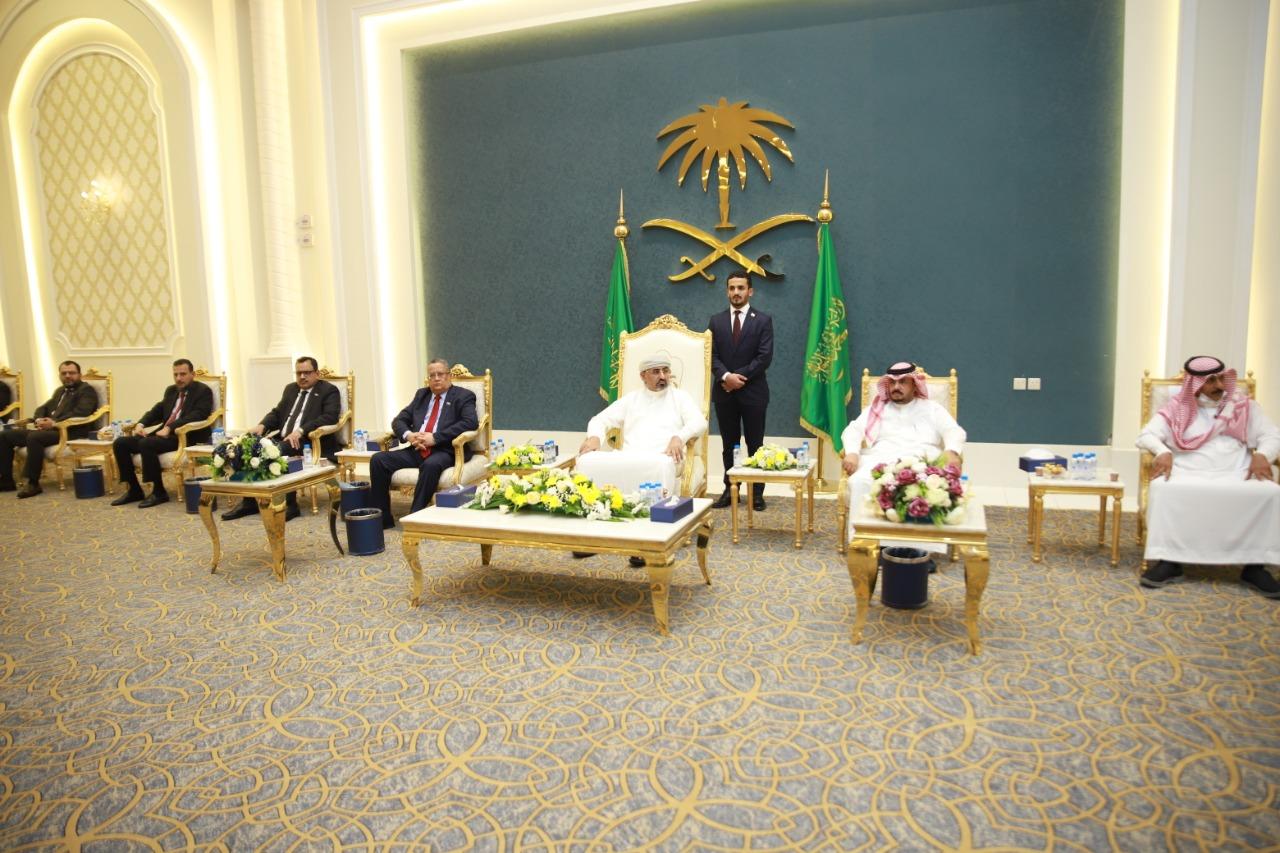 الرئيس القائد عيدروس الزُبيدي يشهد حفل أبناء الجنوب في المملكة بمناسبة اليوم الوطني السعودي