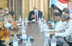 الوالي يترأس اجتماعاً هاماً للهيئة التنفيذية لانتقالي العاصمة عدن