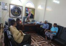نائب رئيس انتقالي لحج يبحث مع مدير عام الحد تحسين أوضاع المديرية