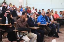 مساعد الأمين العام يحضر المناقشة العلنية لرسالة الدكتوراه للباحثة انتصار السقاف