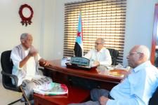 مساعد الأمين العام يلتقي الشاعر الجنوبي كور سعيد عوض