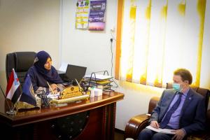 سوقي تناقش مع ممثل مكتب مفوضية حقوق الإنسان عدداً من الموضوعات المتعلقة بالانتهاكات في الجنوب