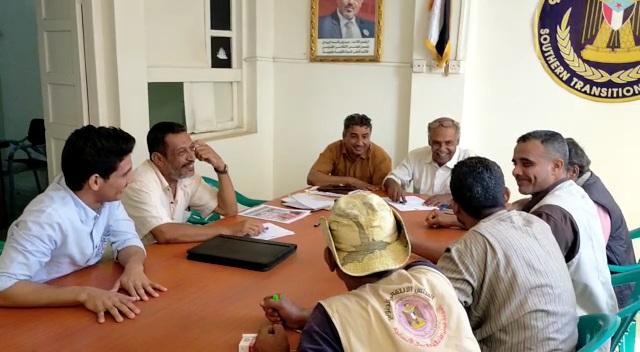الحو يلتقي أعضاء الإدارة الإعلامية بتنفيذية انتقالي المنصورة