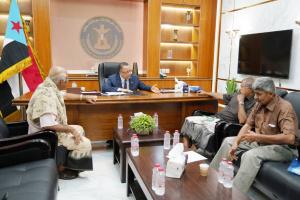 الخُبجي يلتقي بقيادة الهيئة العُليا للجيش والأمن الجنوبيين