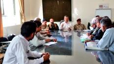 قيادة الانتقالي بالضالع والسلطة المحلية تعقدان اجتماعاً مشتركاً مع مديري بعض المكاتب التنفيذية