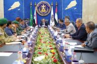 هيئة رئاسة المجلس الانتقالي الجنوبي تستعرض مستوى تنفيذ حكومة المناصفة لالتزاماتها في المجالين الخدمي والاقتصادي ودفع المرتبات