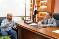 الدكتور الخُبجي يبحث مع المدير الإقليمي للخطوط الجوية الجيبوتية سُبل إعادة تشغيل رحلاتها من وإلى العاصمة عدن