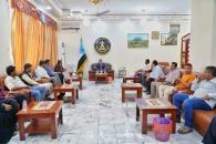 الدكتور الخُبجي يلتقي بعدد من أعضاء منسقية المجلس الانتقالي في جامعة أبين
