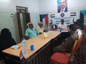 تنفيذية انتقالي القطن تناقش آلية توزيع مكرمة الرئيس الزُبيدي الرمضانية