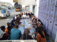 انتقالي المحفد يدشن توزيع مكرمة الرئيس عيدروس الزُبيدي الرمضانية بالمديرية