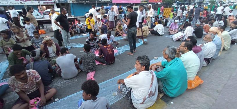 انتقالي العاصمة عدن ينظم إفطاراً جماعياً بشارع مدرم بمناسبة الذكرى السادسة لتحرير عدن