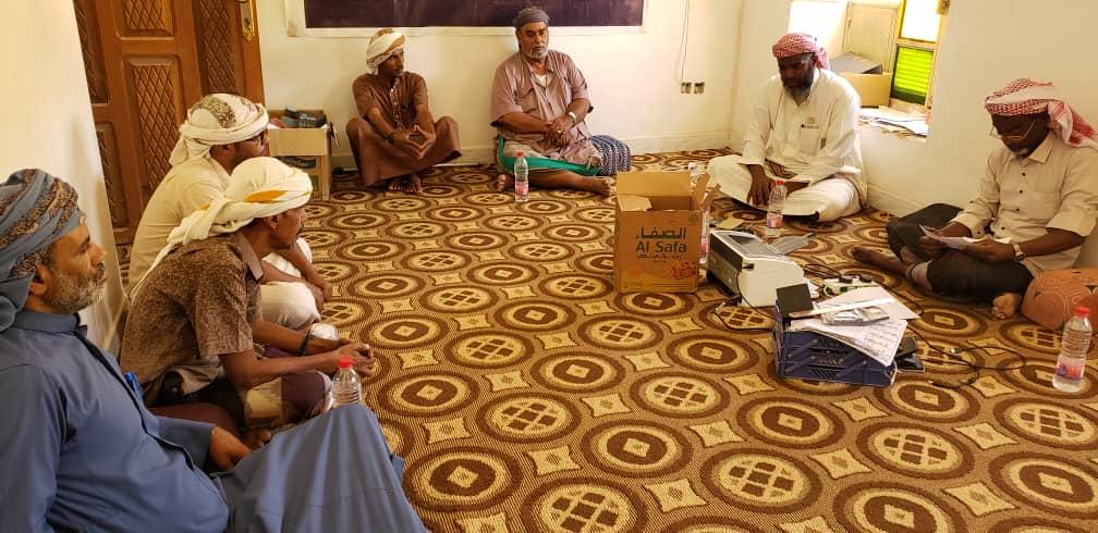 رئيس تنفيذية انتقالي السوم يعقد اجتماعاً برؤساء اللجان المحلية بمراكز المديرية