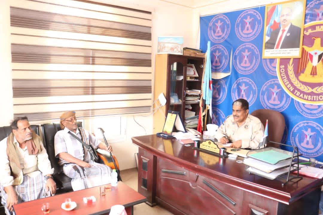 رئيس تنفيذية انتقالي حضرموت يلتقي اللواء النوحي والناشط الجنوبي محمد الحضرمي