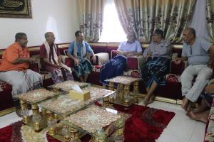 الكثيري يلتقي رئيس تنفيذية انتقالي حضرموت وعددا من قيادات المجلس بالمحافظة