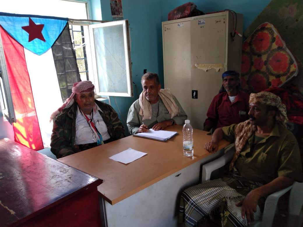 تنفيذية انتقالي سباح تعقد اجتماعا استثنائيا وتقف أمام الأوضاع العسكرية في المديرية