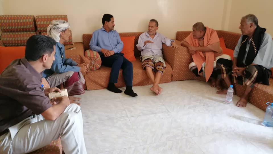 رئيس تنفيذية انتقالي أبين يطمئن على صحة الدكتور محمد السعدي والشيخ حيدرة الفضلي
