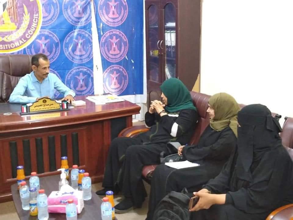 قيادة انتقالي حضرموت تلتقي رئيسة المجلس التنسيقي الأعلى لمنظمات المجتمع المدني