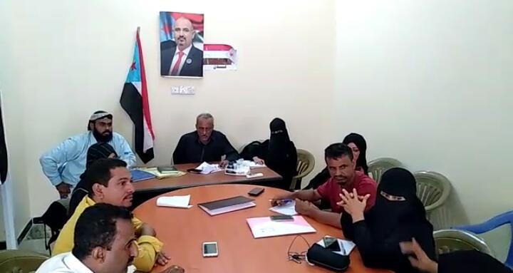 تنفيذية انتقالي الشيخ عثمان تستعرض خطة عملها للفصل الرابع